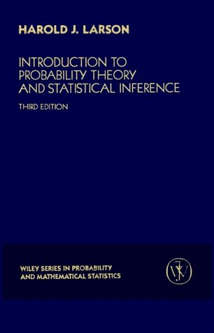 Introduction to Probability Theory and Statistical Inference  3rd 1982 (Revised) edition cover