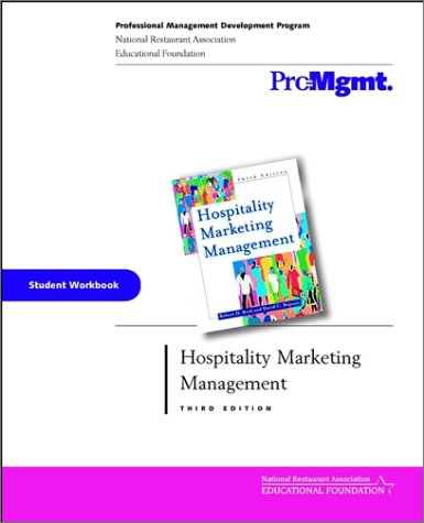 Hospitality Marketing Management  3rd 2001 (Student Manual, Study Guide, etc.) 9780471413097 Front Cover
