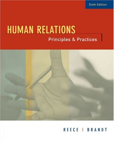Human Relations Principles and Practices 6th 2006 (Brief Edition) edition cover