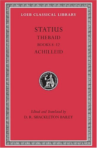 Statius - Thebaid Achilled   2003 edition cover