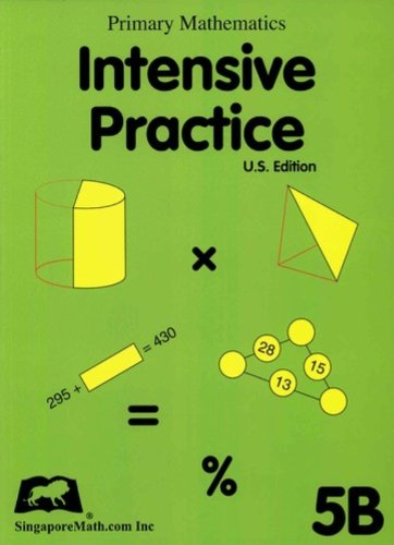 Primary Mathematics Intensive Practice U. S. Edition 5B  2004 9781932906097 Front Cover