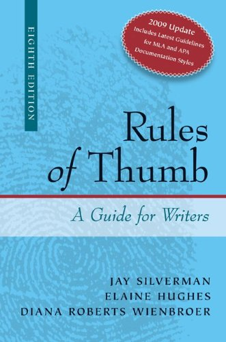 Rules of Thumb A Guide for Writers 8th 2010 (Revised) edition cover