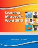 Learning Microsoft Word 2013   2014 (Student Manual, Study Guide, etc.) edition cover