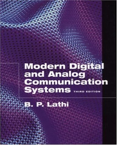 Modern Digital and Analog Communication Systems  3rd 1998 (Revised) edition cover