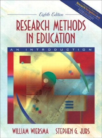 Research Methods in Education An Introduction 8th 2005 (Revised) edition cover