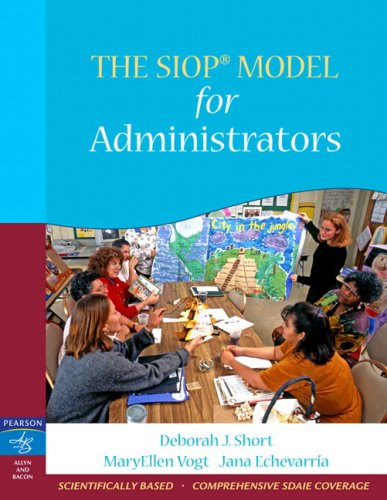 SIOP Model for Administrators   2008 9780205521098 Front Cover