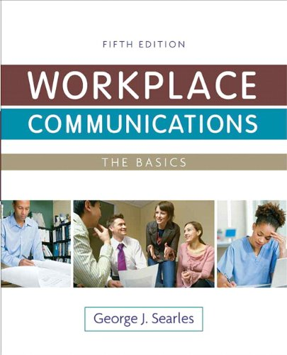 Workplace Communications The Basics 5th 2011 9780205828098 Front Cover