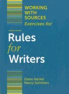 Working with Sources: Exercises for Rules for Writers  7th 2012 edition cover