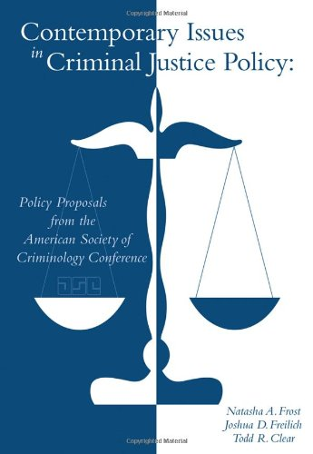 Contemporary Issues in Criminal Justice Policy   2010 edition cover