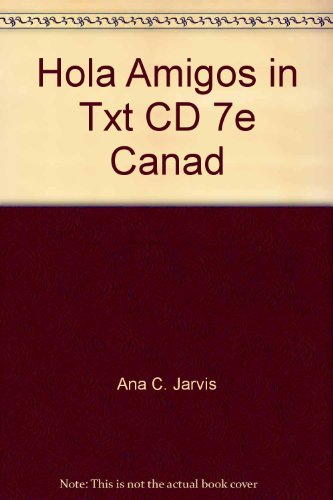 HOLA,AMIGOS!-IN-TEXT AUDIO CD N/A 9780618901098 Front Cover