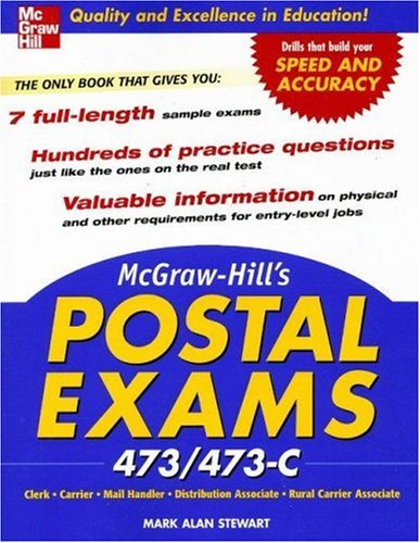 McGraw-Hill's Postal Exams 473/473C   2007 9780071475099 Front Cover