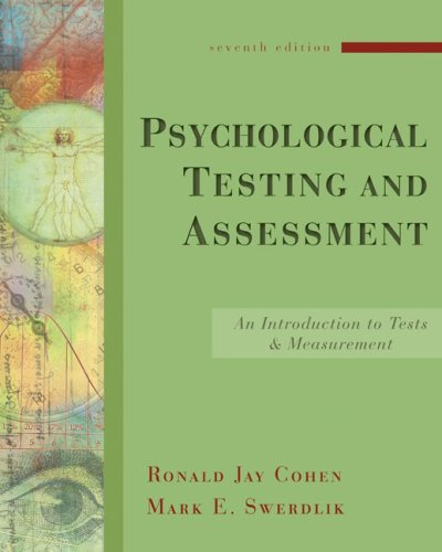Psychological Testing and Assessment An Introduction to Tests and Measurement 7th 2010 edition cover