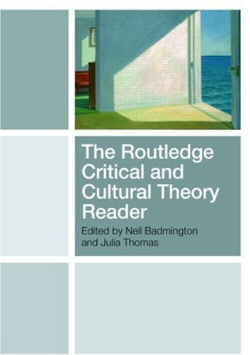 Routledge Critical and Cultural Theory Reader   2008 edition cover