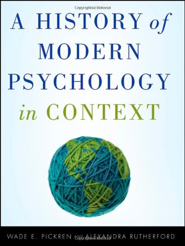 History of Modern Psychology in Context   2010 edition cover