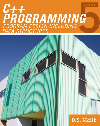 C++ Programming Program Design Including Data Structures 5th 2011 edition cover