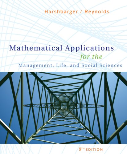 Mathematical Applications for the Management, Life, and Social Sciences  9th 2009 edition cover