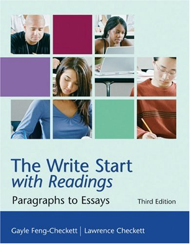 Write Start with Readings Paragraphs to Essays 3rd 2008 9780618920099 Front Cover