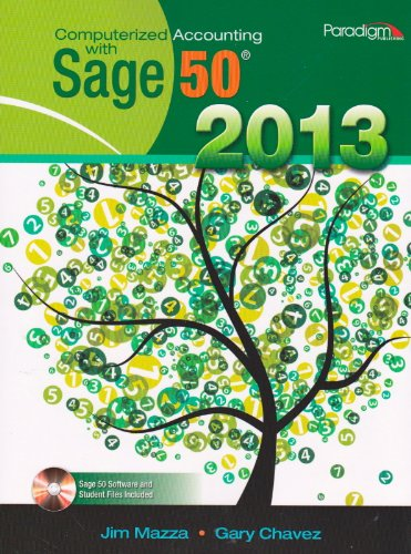COMPUTERIZED ACCT.W/SAGE 50 2013-W/CD   N/A edition cover