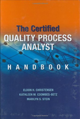 Certified Quality Process Analyst Handbook   2007 edition cover