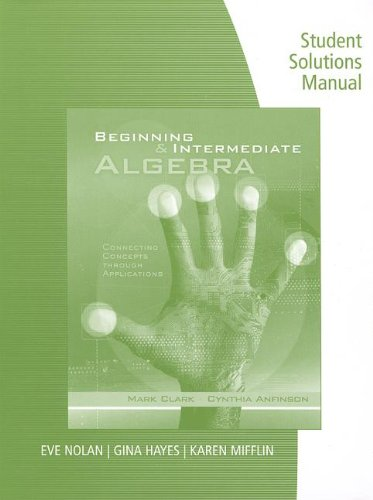 Beginning and Intermediate Algebra   2013 9781133365099 Front Cover