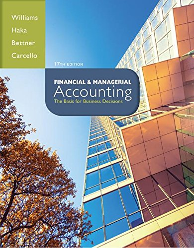 Loose Leaf Financial and Managerial Accounting with Connect Plus  17th 2015 edition cover