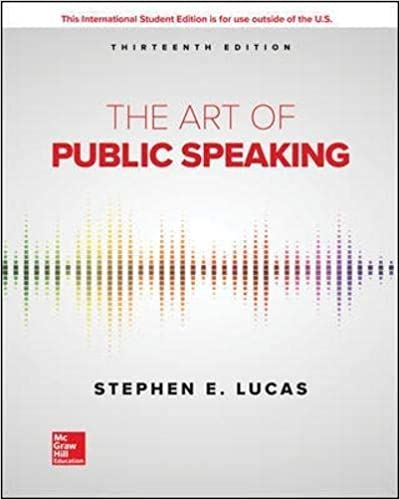 ISE The Art of Public Speaking 13th 9781260548099 Front Cover