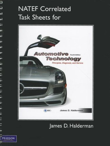 NATEF Correlated Task Sheets for Automotive Technology  4th 2012 9780132540100 Front Cover