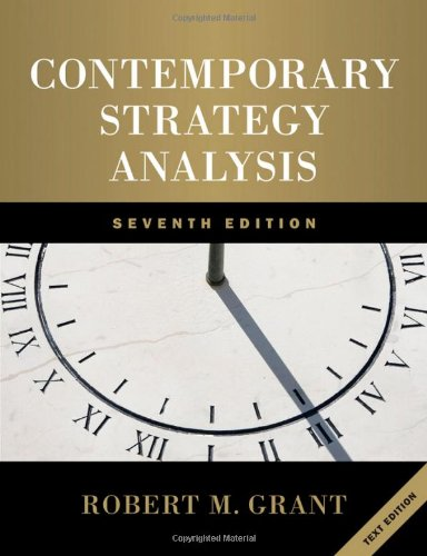 Contemporary Strategy Analysis  7th 2010 edition cover