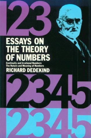 Essays on the Theory of Numbers  N/A 9780486210100 Front Cover