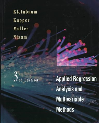 Applied Regression Analysis and Multivariable Methods  3rd 1998 (Revised) edition cover