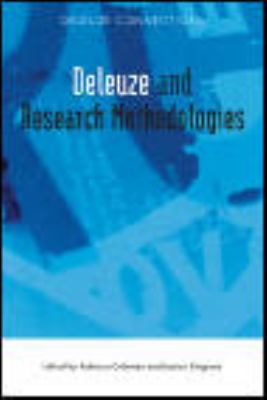 Deleuze and Research Methodologies   2013 9780748644100 Front Cover