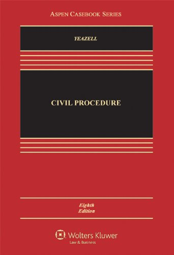 Civil Procedure  8th 2012 (Revised) 9781454807100 Front Cover