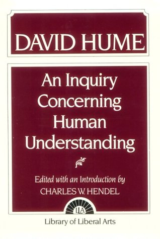 Hume An Inquiry Concerning Human Understanding 1st 1955 edition cover