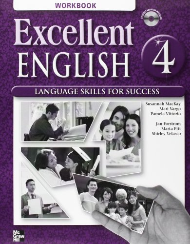 Excellent English Level 4 Workbook with Audio CD Language Skills for Success  2009 9780078052101 Front Cover