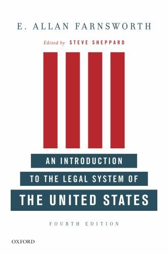 Introduction to the Legal System of the United States  4th 2010 edition cover