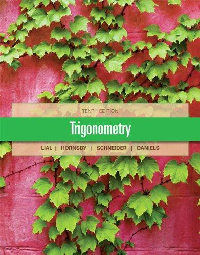 Trigonometry  10th 2013 edition cover