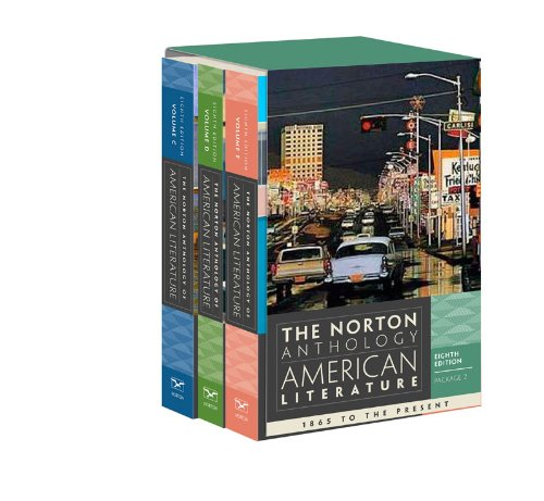 Norton Anthology of American Literature  8th 2012 9780393913101 Front Cover