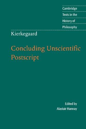 Kierkegaard: Concluding Unscientific Postscript   2009 edition cover