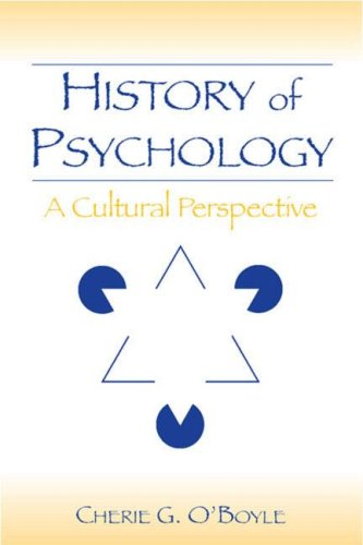 History of Psychology A Cultural Perspective  2006 edition cover