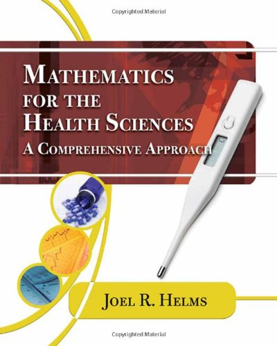 Mathematics for Health Sciences A Comprehensive Approach  2010 edition cover