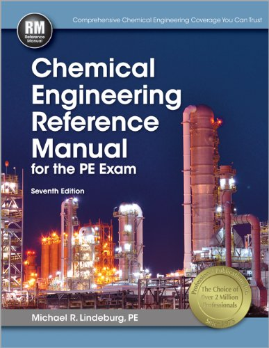 Chemical Engineering Reference Manual for the PE Exam  7th edition cover
