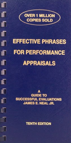 Effective Phrases for Performance Appraisals : A Guide to Successful Evaluations 10th 2003 edition cover