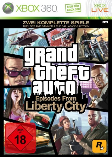 "Grand Theft Auto: Episodes from Liberty City - Zwei komplette Spiele: ""The Lost and Damned"" + ""The Ballad of Gay Tony"" Xbox 360 artwork"