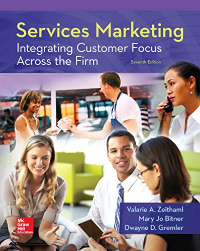 Services Marketing: Integrating Customer Focus Across the Firm  2017 9780078112102 Front Cover