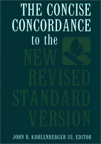 Concise Concordance to the New Revised Standard Version   1993 edition cover