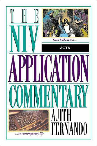 NIV Application Commentary - Acts   1998 edition cover