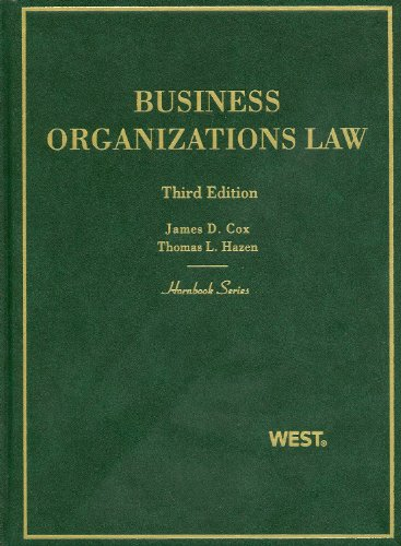 Business Organizations Law  3rd 2011 (Revised) edition cover