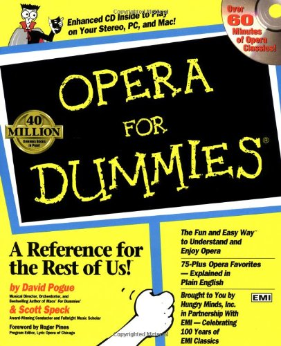Opera for Dummies   1997 edition cover