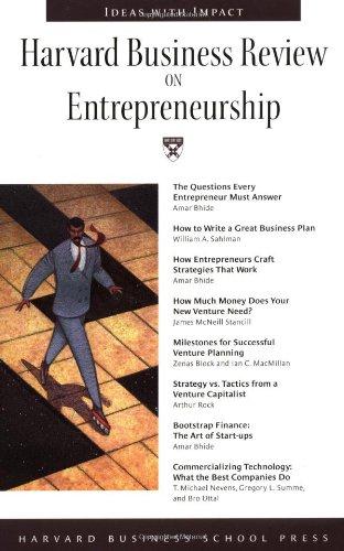 Harvard Business Review on Entrepreneurship   1999 edition cover