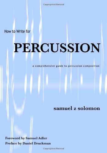 How to Write for Percussion  2002 edition cover